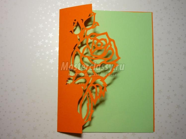 how to diy kirigami rose and butterfly greeting card