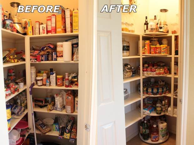 How to DIY Lazy Susan Style Pantry 2