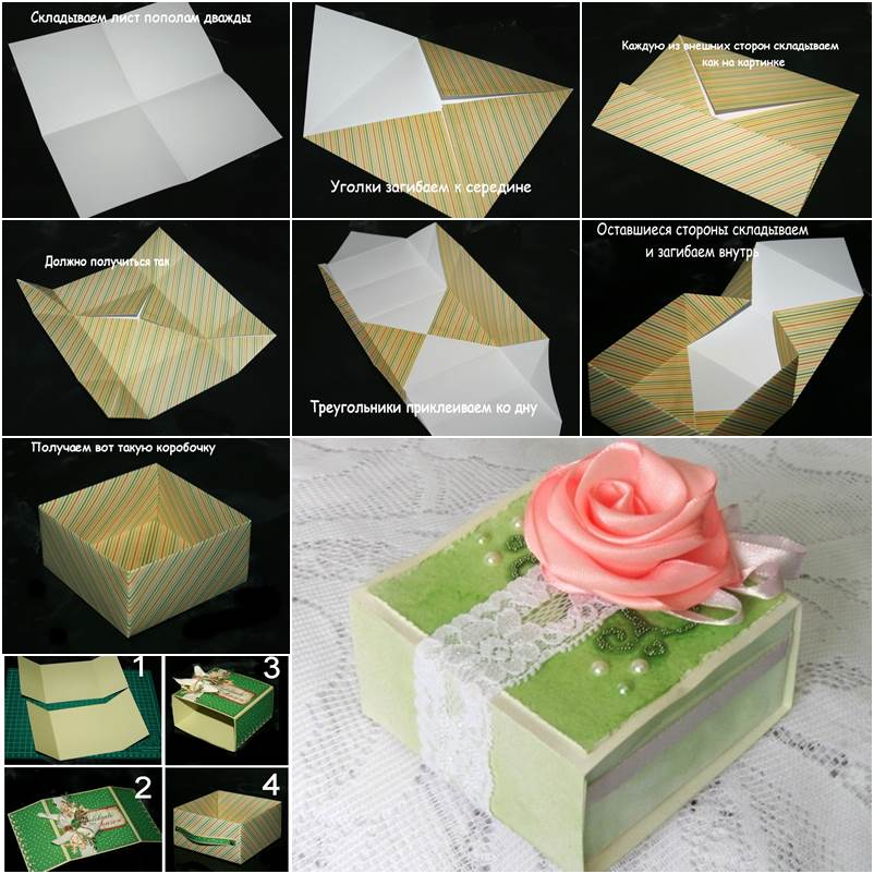 How to DIY Origami Paper Gift Box - photo#13