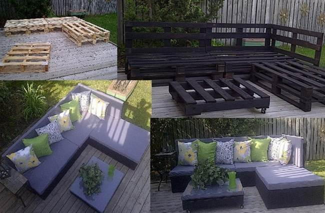 Creative Ideas Diy Patio Day Bed From Wooden Pallets