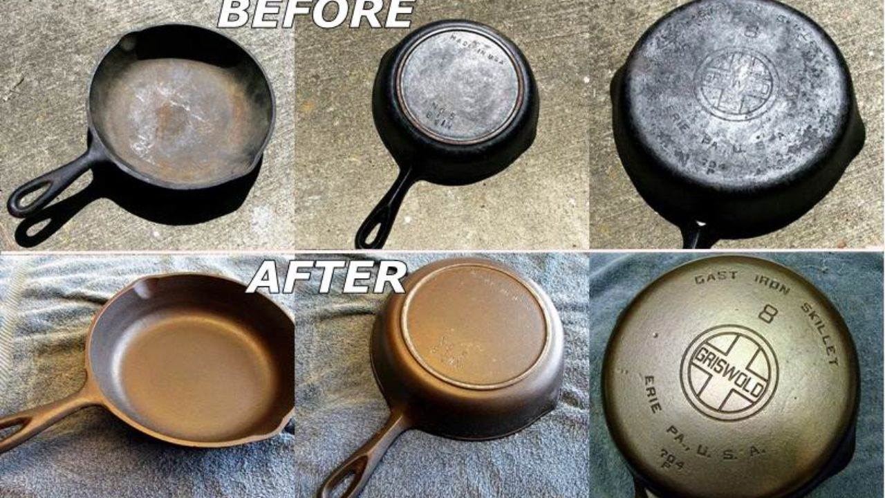 How To Diy Recondition Rusty Cast Iron Cookware