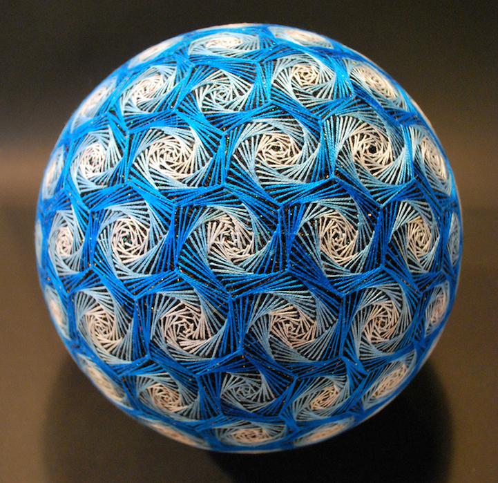 Unique Handmade Embroidered Temari Balls