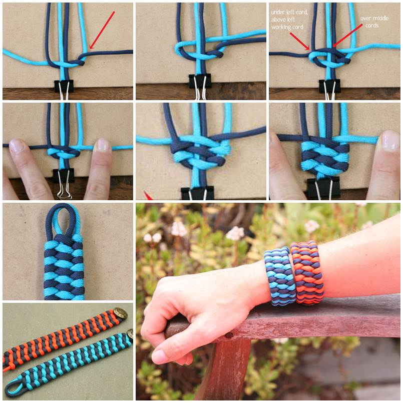 How to DIY Woven Cuff Bracelet thumb