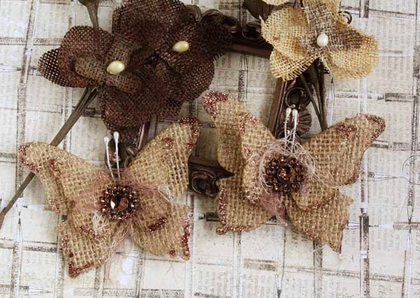 How To Make Beautiful Burlap Butterflies