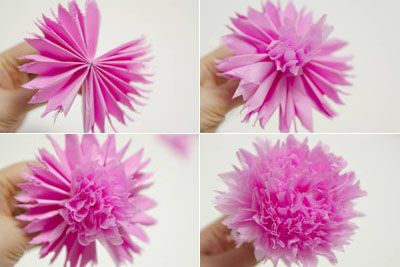 Make crepe paper flower selol ink make crepe paper flower mightylinksfo