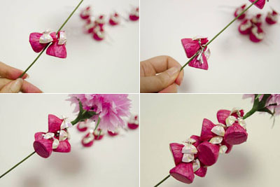 How to make beautiful crepe paper flowers and chocolates how to make beautiful crepe paper flower and mightylinksfo Gallery