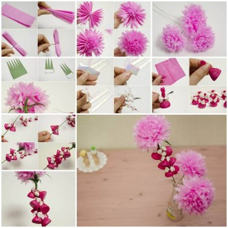 How To Make Beautiful Crepe Paper Flowers And Chocolates DIY Tutorial