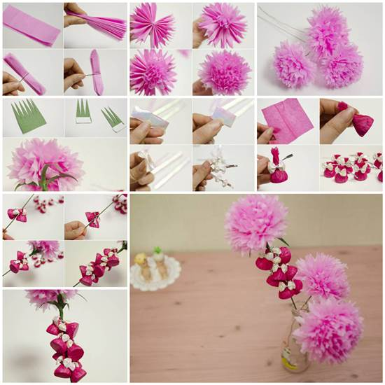 How to make beautiful crepe paper flowers and chocolates how to make beautiful crepe paper flower and chocolates mightylinksfo Choice Image