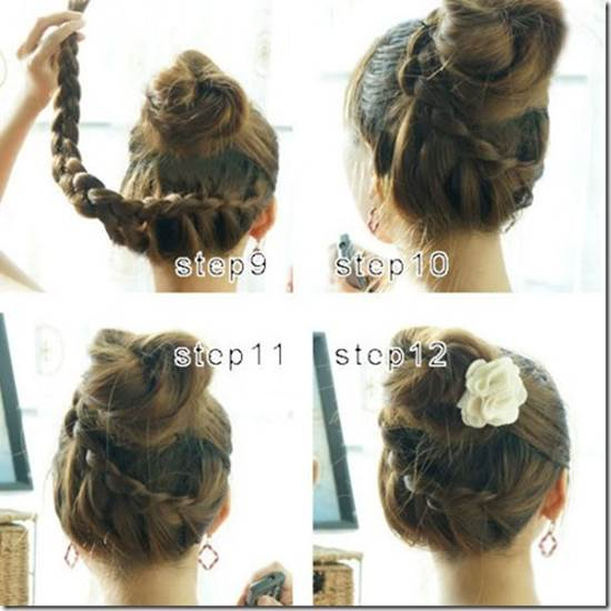 How To Make Beautiful French Braids Updo Hairstyle