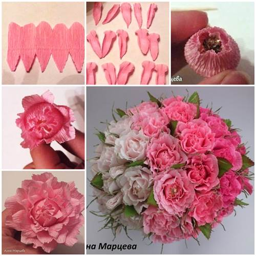 How to make easy crepe paper chocolate flower mightylinksfo