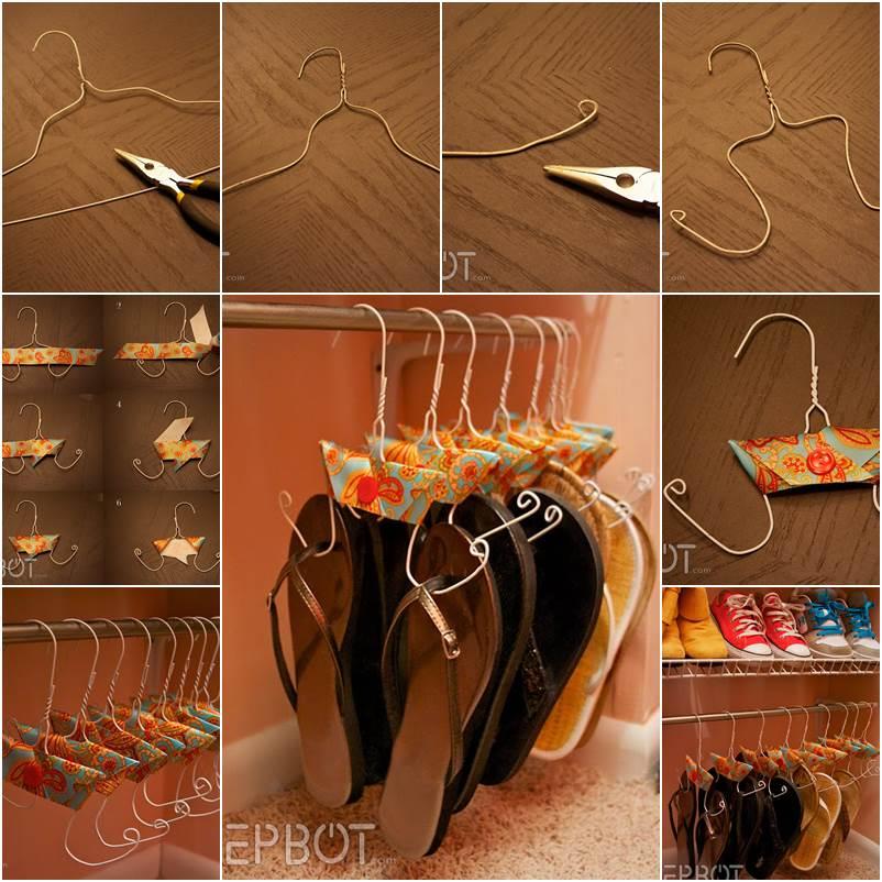 How To Make Flip Flops Hangers From Wire Coat Hangers