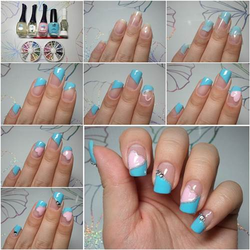 How to Make Pretty Heart Shaped Nail Art