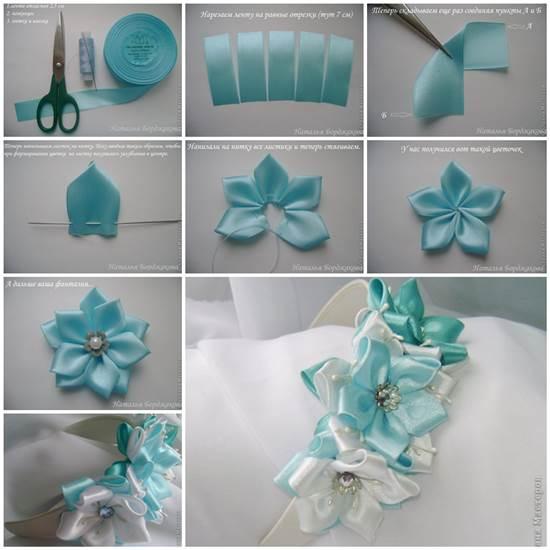 How to Make Pretty Satin Ribbon Hairband ba466f38e7d