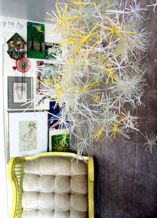 How To Make Unique Chandelier From Drinking Straws
