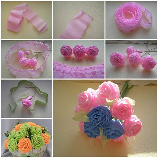 How can make paper flower yolarnetonic how to make unique crepe paper flowers mightylinksfo