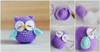 Free crochet pattern: Small amigurumi owls | 173x332