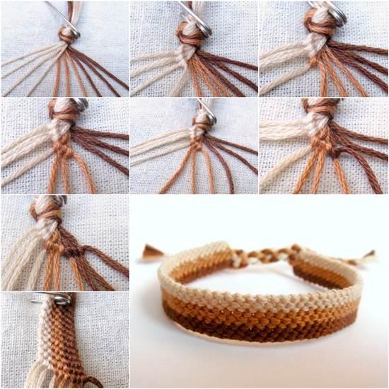 how to weave diy simple bracelet