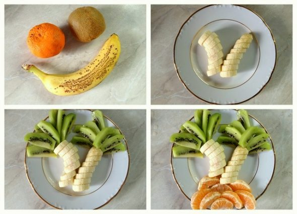 10 Creative DIY Fruit Art --> Fruit Coconut Tree