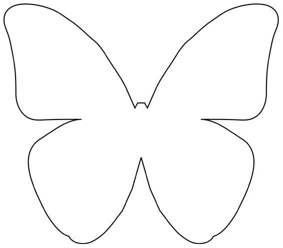Diy beautiful butterfly decoration from templates for Butterfly paper cut out template