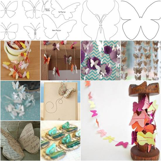 The Most Unique Pinterest Diy Home Decor And Gift Ideas: DIY Beautiful Butterfly Decoration From Templates