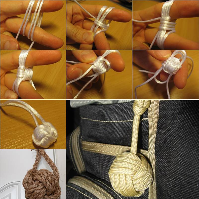 Diy How To Tie A Monkey S Fist Decorative Knot