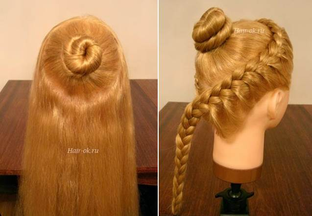 Elegant Hairstyle With Braids and Curls 1