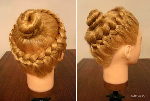 Elegant Hairstyle With Braids and Curls 2