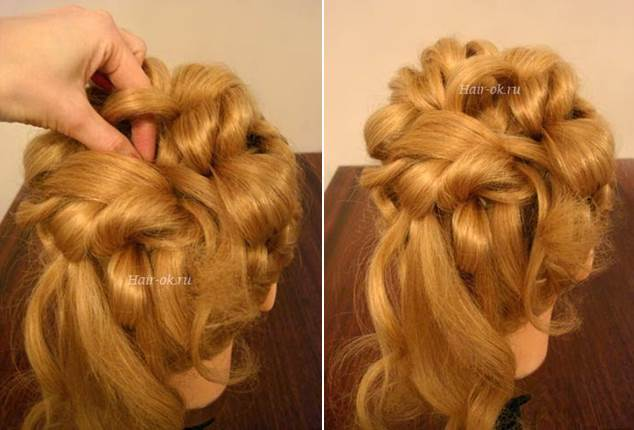 Elegant Hairstyle With Braids and Curls 5