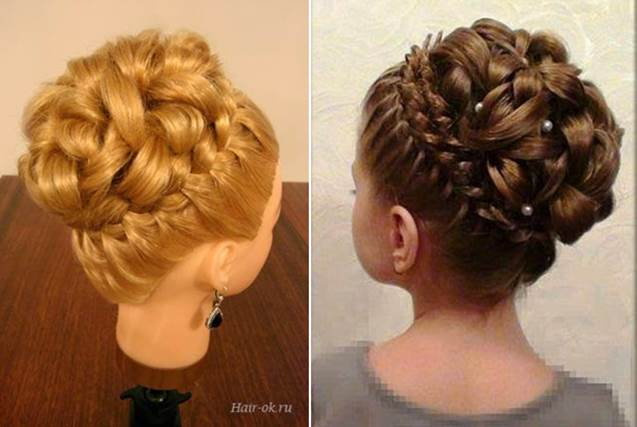 Elegant Hairstyle With Braids and Curls 8