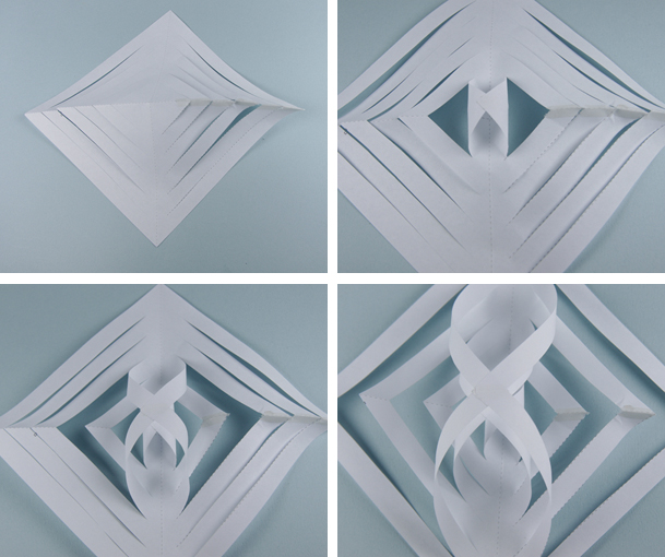 how to make a beautiful paper snowflake easy
