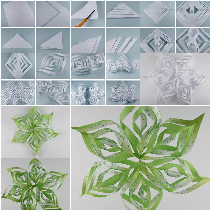 How to DIY Beautiful Paper Snowflake - photo#39