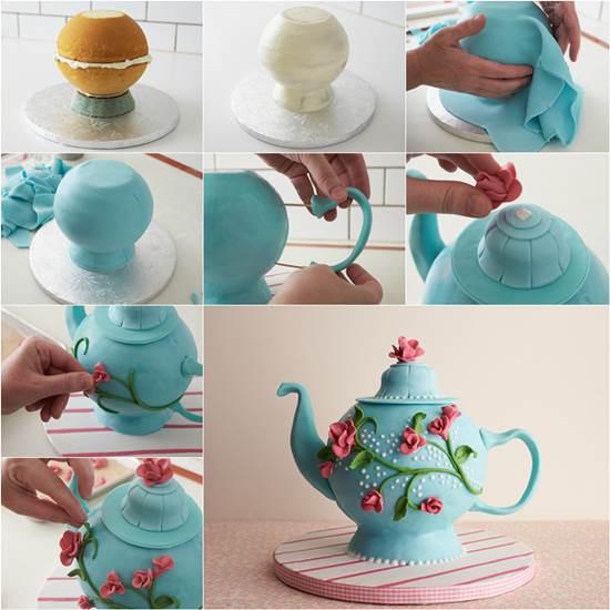 Teapot Birthday Cake Ideas