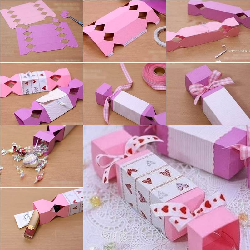 How to diy candy shaped gift box for Cute small gifts for friends