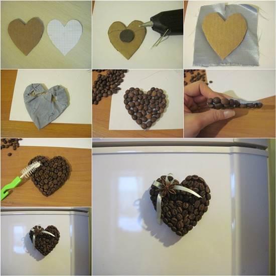 How to DIY Coffee Bean Fridge Magnet