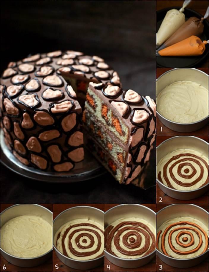 How To Diy Creative Leopard Cake