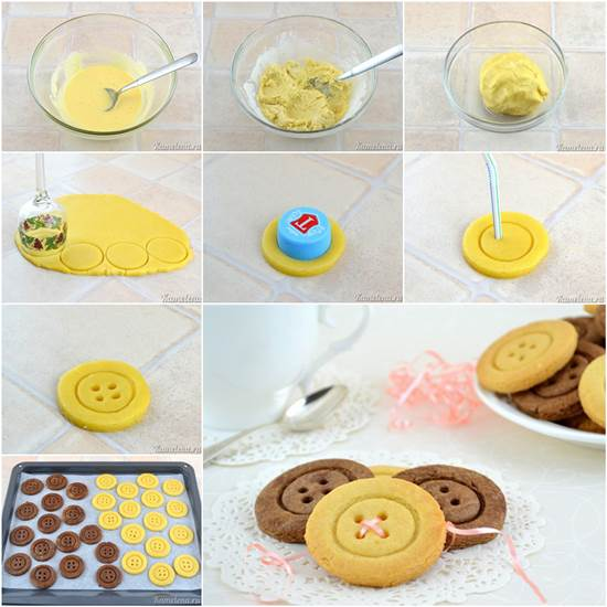 How to DIY Cute Button Shaped Shortbread