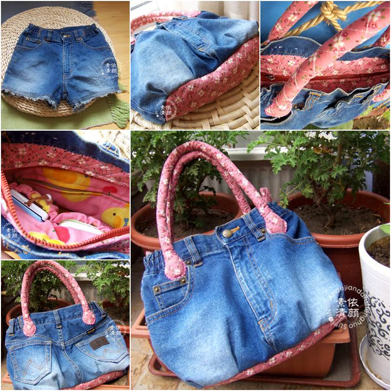 How to DIY Easy Handbag from Old Jeans