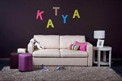 How To DIY Easy Letter Wall Decals 7.