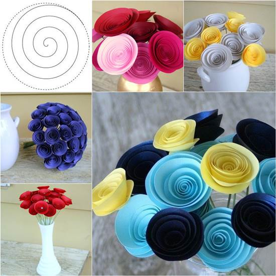 How to diy easy swirly paper flower mightylinksfo