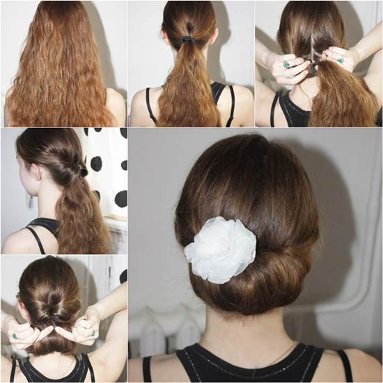 How To DIY Easy And Elegant Bun Hairstyle