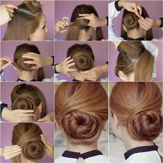 How To Diy Elegant Twisted Hair Bun Hairstyle