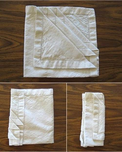 How to DIY French Pleat Napkin Fold 3