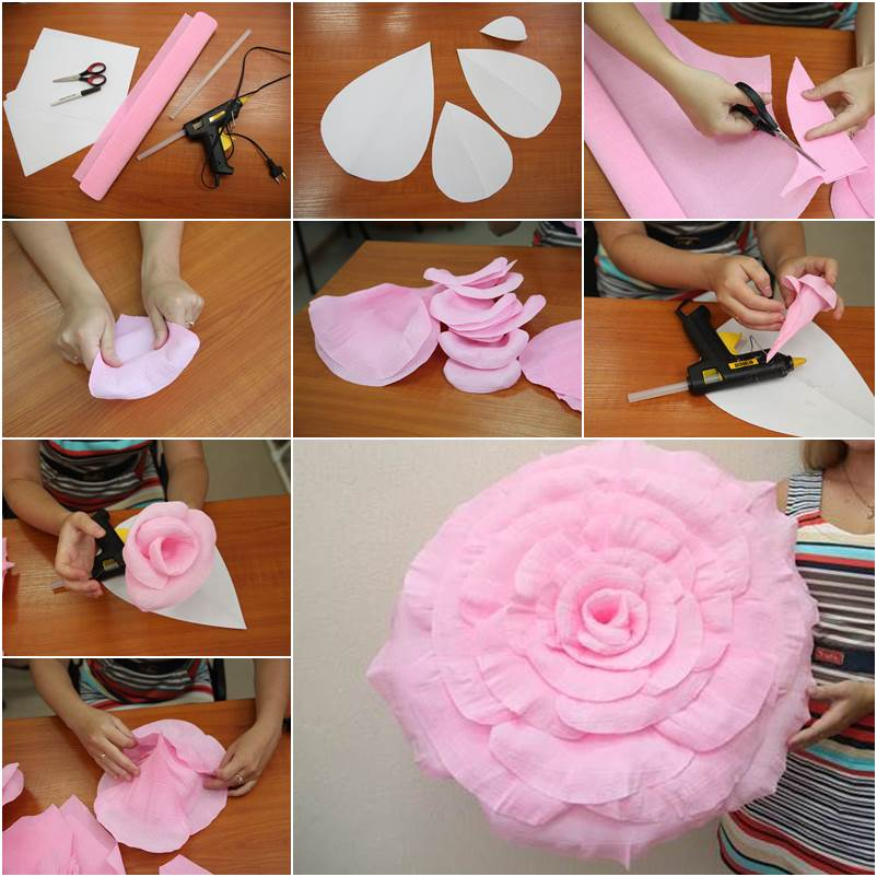 How to diy giant crepe paper flower mightylinksfo