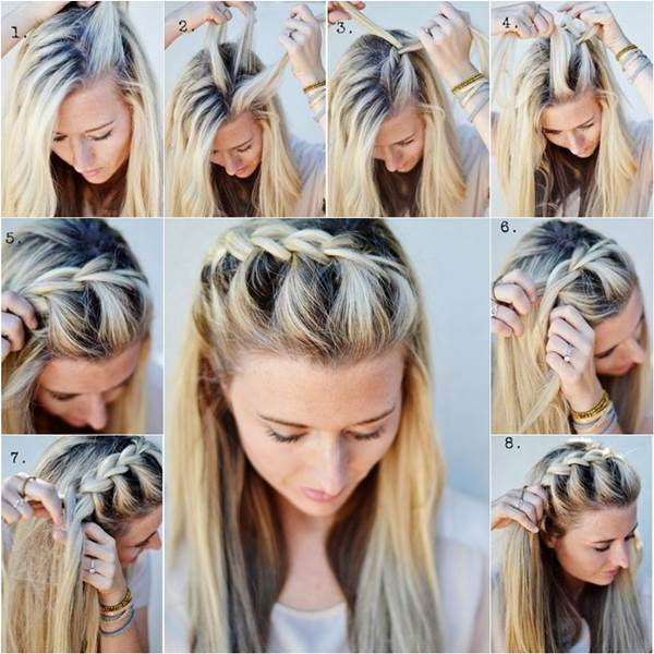 How to DIY Half-Up Side French Braid Hairstyle