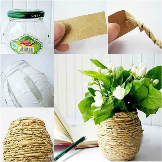 How to DIY Kraft Paper Decorated Flower Vase