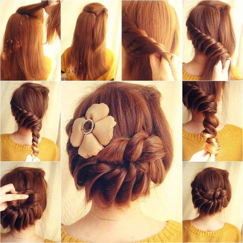 How To DIY Lovely Braided Hairstyle - Hairstyle diy tumblr
