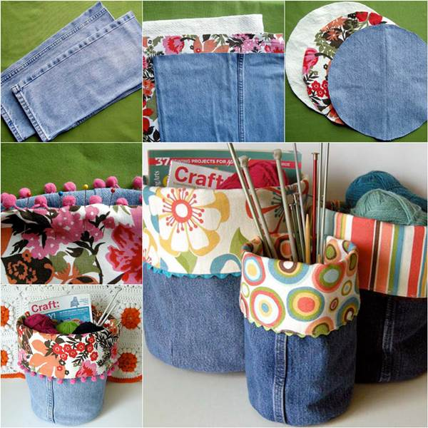 old clothes craft ideas how to diy storage bins from 5047