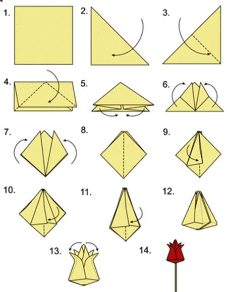 How to DIY Origami Tulip 2