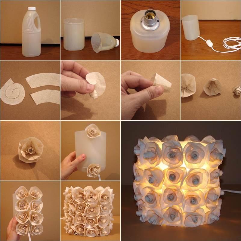 How To Diy Plastic Bottle Rose Lamp