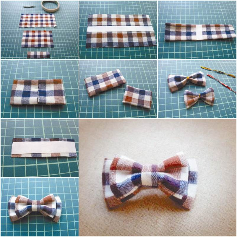 How To Diy Pretty Plaid Bow Hair Clip